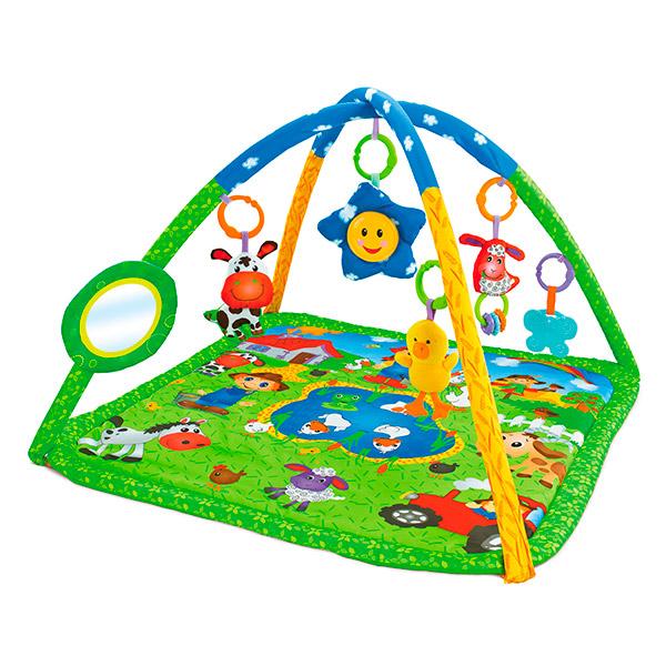 "Развивающий коврик для новорожденного Funkids ""Happy Farm Gym"""
